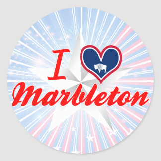 I Love Marbleton, Wyoming Round Sticker