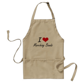 I Love Marching Bands Standard Apron