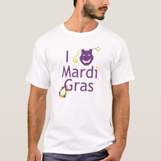 I Love Mardi Gras T-Shirt