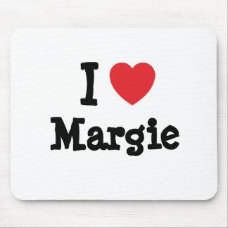 I love Margie heart T-Shirt Mouse Mats