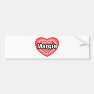 I love Margie. I love you Margie. Heart Car Bumper Sticker