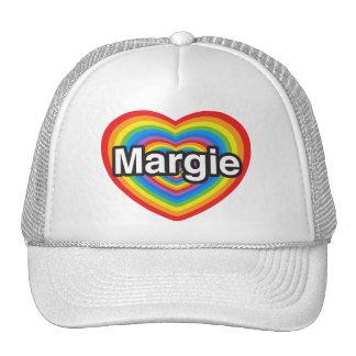 I love Margie I love you Margie Heart Trucker Hat