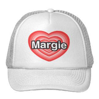 I love Margie I love you Margie Heart Mesh Hat