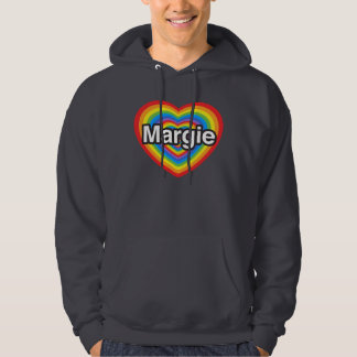 I love Margie. I love you Margie. Heart Hooded Pullovers