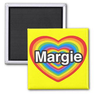 I love Margie I love you Margie Heart Magnets