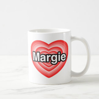 I love Margie. I love you Margie. Heart Mug
