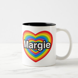 I love Margie. I love you Margie. Heart Coffee Mug