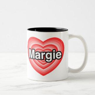 I love Margie. I love you Margie. Heart Coffee Mugs