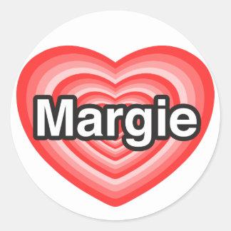 I love Margie. I love you Margie. Heart Round Sticker