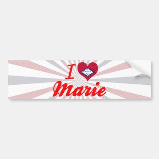 I Love Marie, Arkansas Bumper Sticker