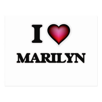 I Love Marilyn Postcard
