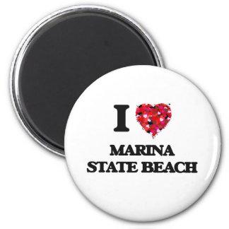 I love Marina State Beach California Magnet