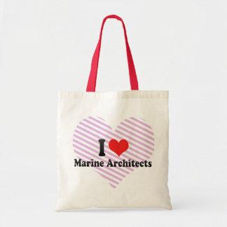 I Love Marine Architects Canvas Bag