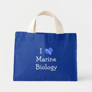 I Love Marine Biology Tote Bags