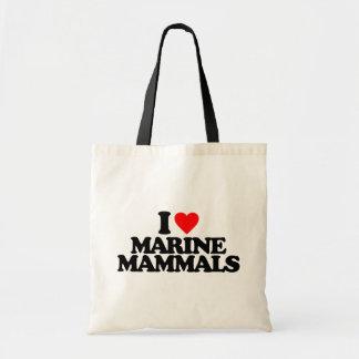 I LOVE MARINE MAMMALS BAG