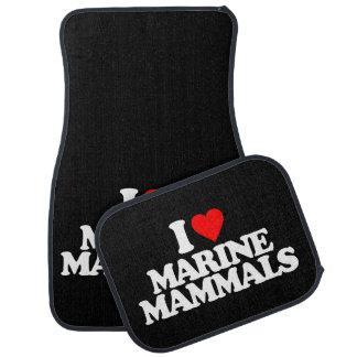 I LOVE MARINE MAMMALS CAR MAT