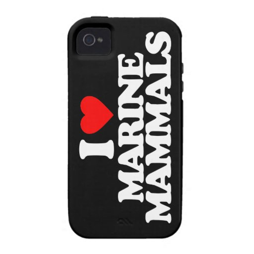 I LOVE MARINE MAMMALS VIBE iPhone 4 CASE