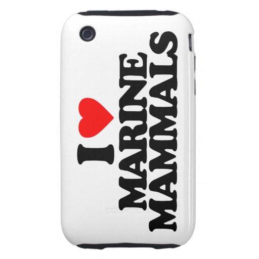 I LOVE MARINE MAMMALS TOUGH iPhone 3 COVERS