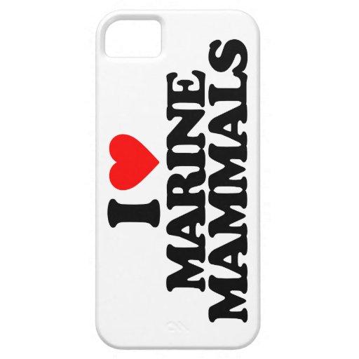 I LOVE MARINE MAMMALS iPhone 5 CASE
