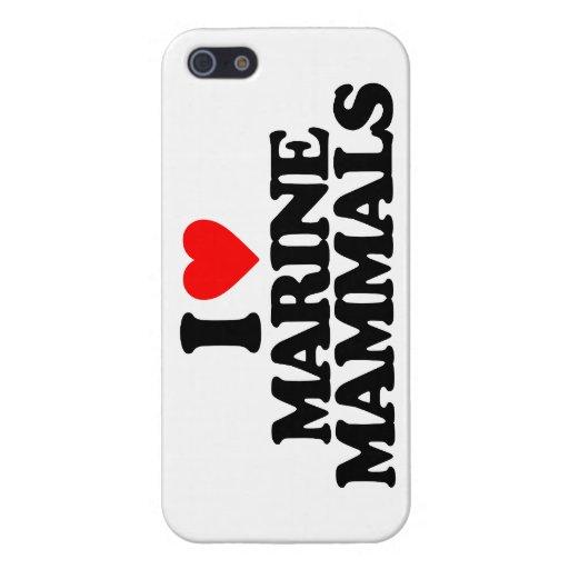 I LOVE MARINE MAMMALS iPhone 5/5S CASE