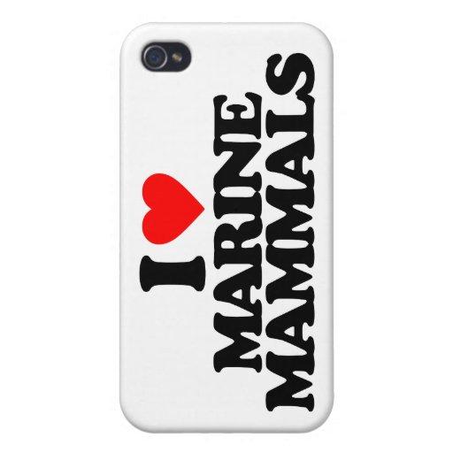 I LOVE MARINE MAMMALS iPhone 4 CASE