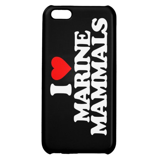 I LOVE MARINE MAMMALS COVER FOR iPhone 5C