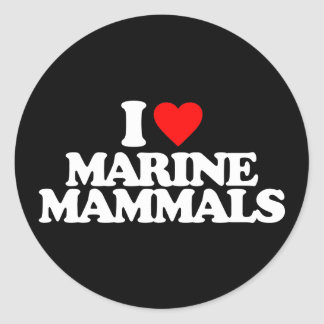 I LOVE MARINE MAMMALS STICKER