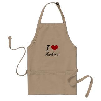 I Love Markers Standard Apron