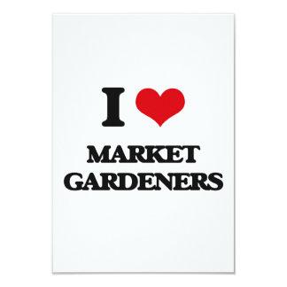 I love Market Gardeners 9 Cm X 13 Cm Invitation Card