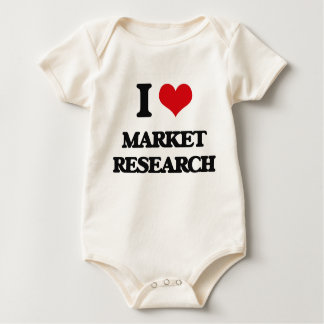 I Love Market Research Baby Bodysuit