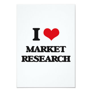 I Love Market Research Personalized Announcement Card