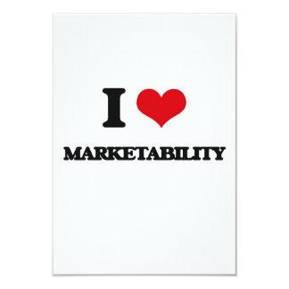 """I Love Marketability 3.5"""" X 5"""" Invitation Card"""