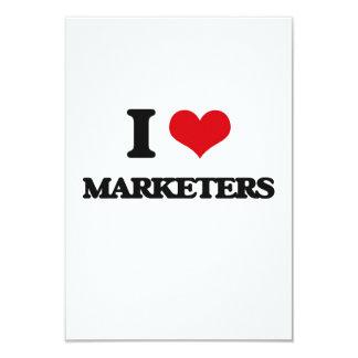 "I Love Marketers 3.5"" X 5"" Invitation Card"