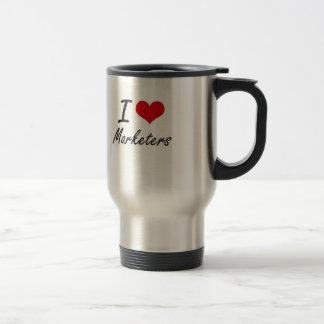 I Love Marketers Stainless Steel Travel Mug