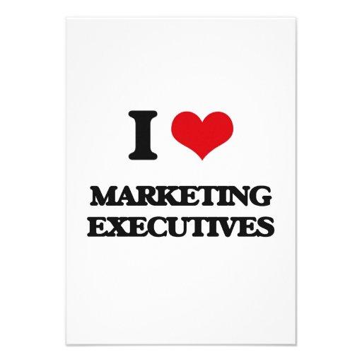 I love Marketing Executives Personalized Invite