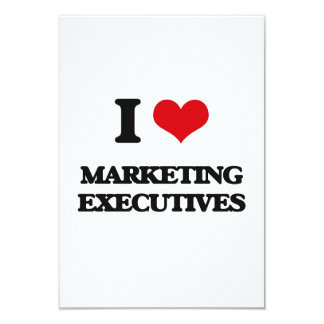 I love Marketing Executives 9 Cm X 13 Cm Invitation Card