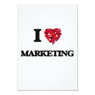 I Love Marketing 9 Cm X 13 Cm Invitation Card