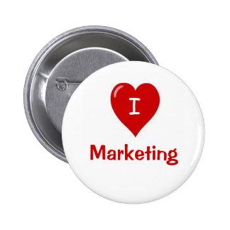 I Love Marketing Motivational Saying 6 Cm Round Badge