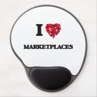 I Love Marketplaces Gel Mouse Pad