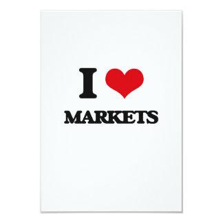 I Love Markets 3.5x5 Paper Invitation Card