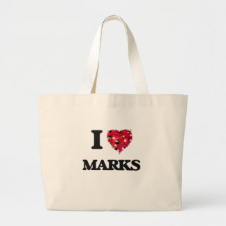 I Love Marks Jumbo Tote Bag