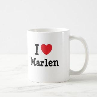 I love Marlen heart T-Shirt Mug