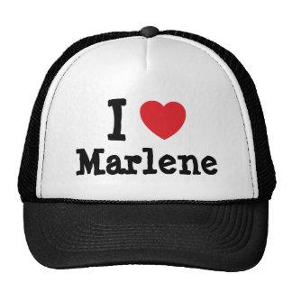 I love Marlene heart T-Shirt Hats