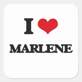 I Love Marlene Square Sticker
