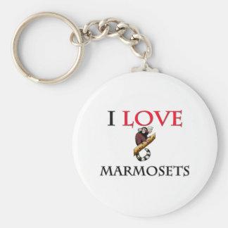 I Love Marmosets Key Ring