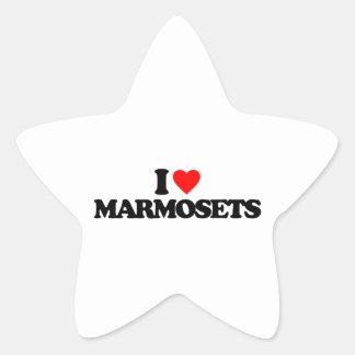 I LOVE MARMOSETS STICKERS