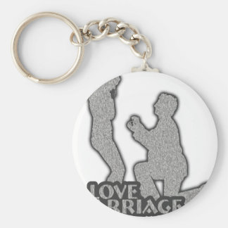 I Love Marriage Will You Marry Me? Key Ring