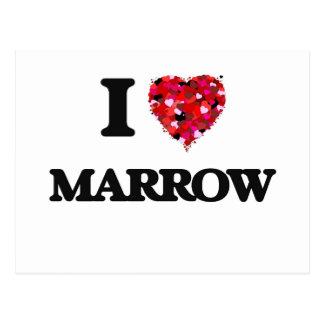 I Love Marrow Postcard