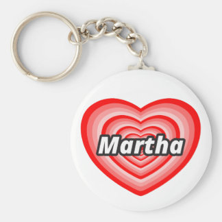I love Martha Basic Round Button Key Ring