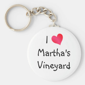 I Love Martha's Vineyard Key Ring